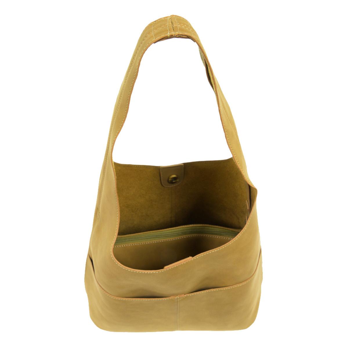 Joy Susan Joy Susan Jenny Faux Suede Handbag Khaki