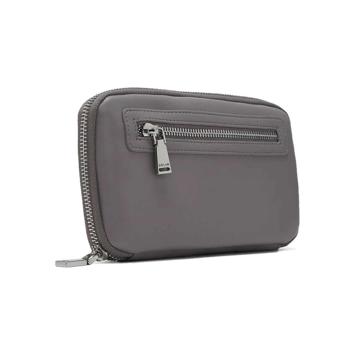 Colab Colab Smooth World Vegan Leather Wallet Grey
