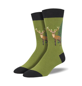 Socksmith Men's Cotton Crew Socks Going Stag