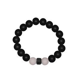 Lia Lubiana Onyx w/ Rose Quartz Bracelet