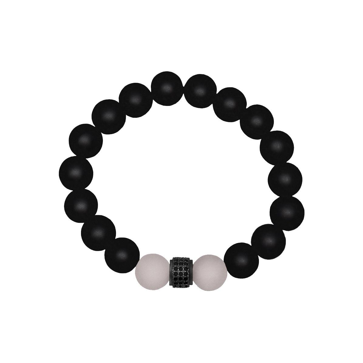 Lia Lubiana Lia Lubiana Onyx w/ Rose Quartz Bracelet