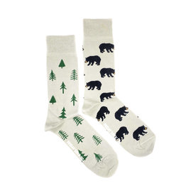 Friday Sock Co. Men's Bear & Tree Crew