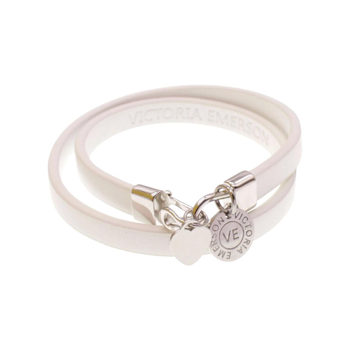 Victoria Emerson Victoria Emerson Heart Double Wrap Bracelet