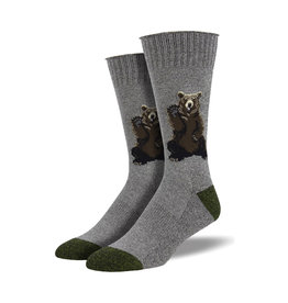 Socksmith Men's Boot Socks Friendly Bear