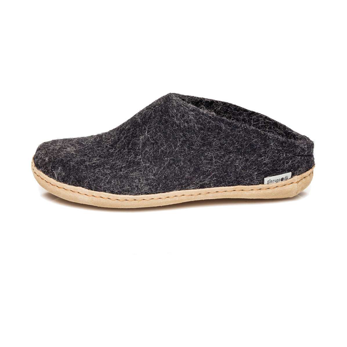 Glerups Glerups Women's Slipper Leather Sole Charcoal
