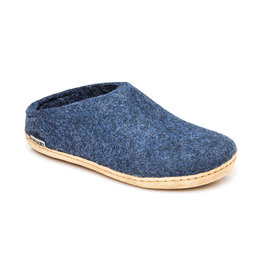 Glerups The Slipper Leather Sole Denim