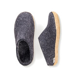 Glerups Glerups The Slipper Leather Sole Charcoal