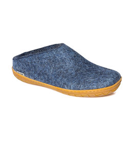 Glerups Women's  Slipper Rubber Sole Denim