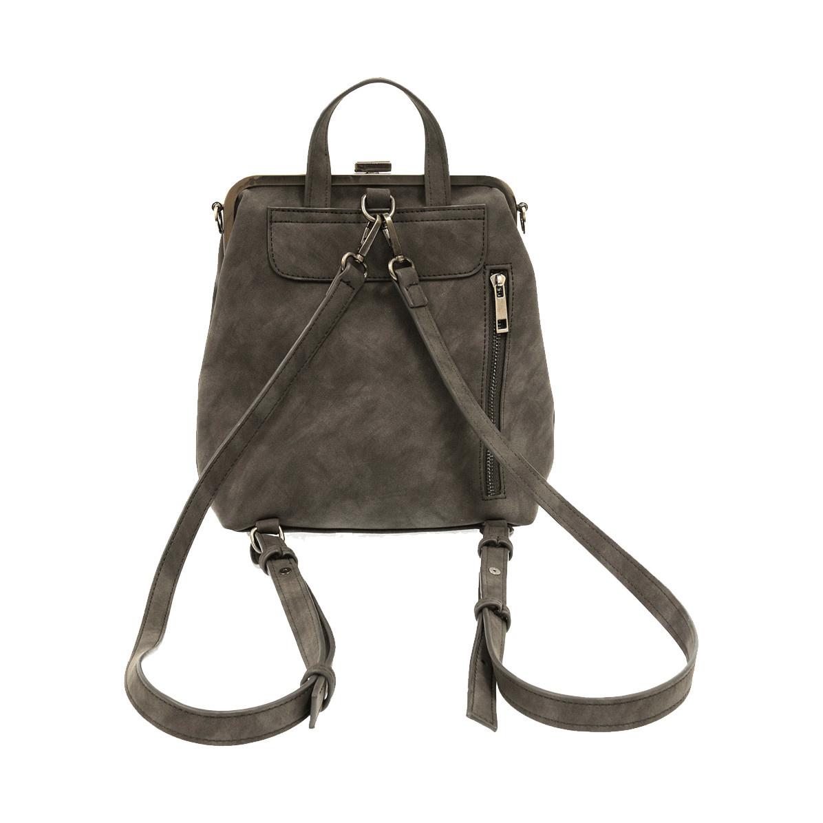 Joy Susan Joy Susan Phyllis Nubuck Convertible Backpack Charcoal