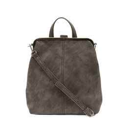 Joy Susan Phyllis Nubuck Convertible Backpack Charcoal
