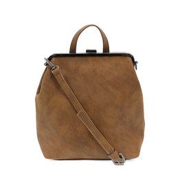 Joy Susan Phyllis Nubuck Convertible Backpack Chestnut
