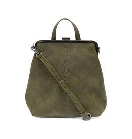 Joy Susan Phyllis Nubuck Convertible Backpack Olive