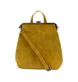 Joy Susan Phyllis Nubuck Convertible Backpack Mustard