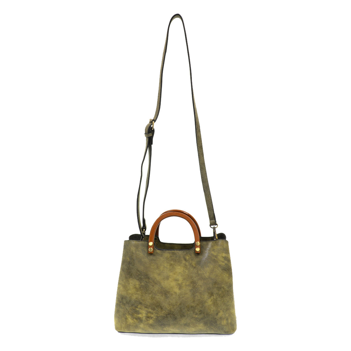 Joy Susan Joy Susan Angie Vintage Satchel with Wood Handle Olive