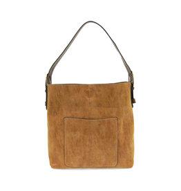 Joy Susan Lux Hobo Handbag Cognac