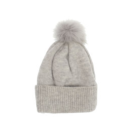 Joy Susan Fine Rib Knit Toque Grey