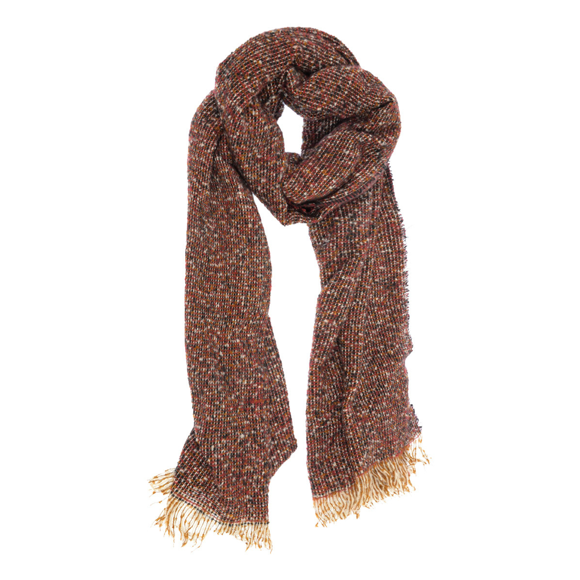 Joy Susan Joy Susan Tweed Scarf Burgundy / Black