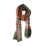 Joy Susan Joy Susan Multi Plaid Scarf Salmon