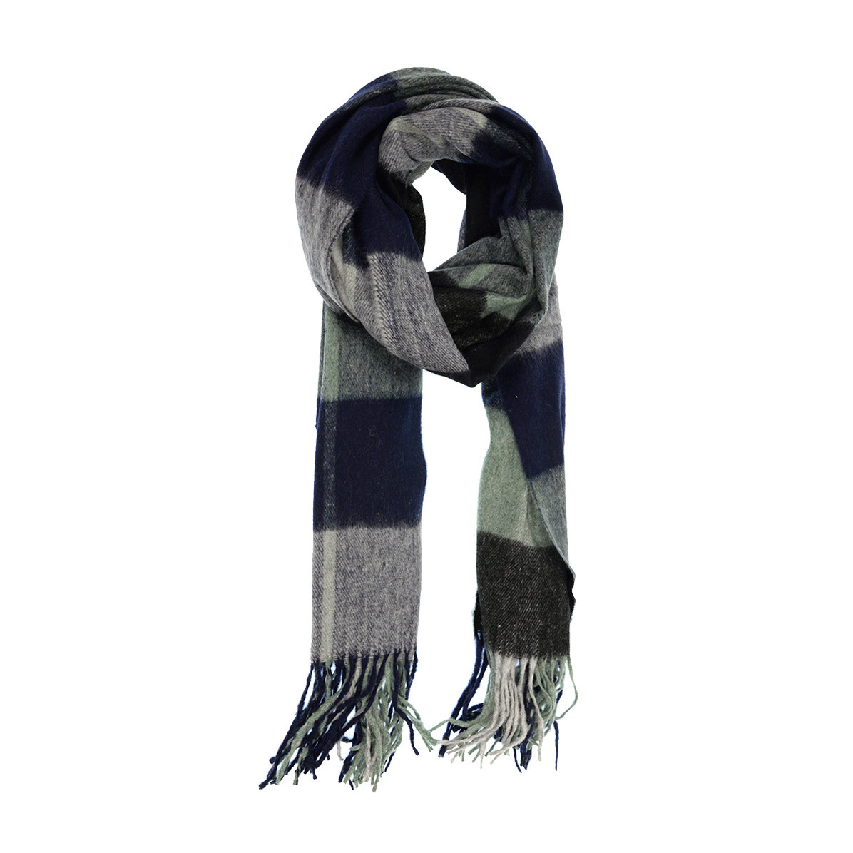 Joy Susan Joy Susan Plaid Scarf Navy Jade