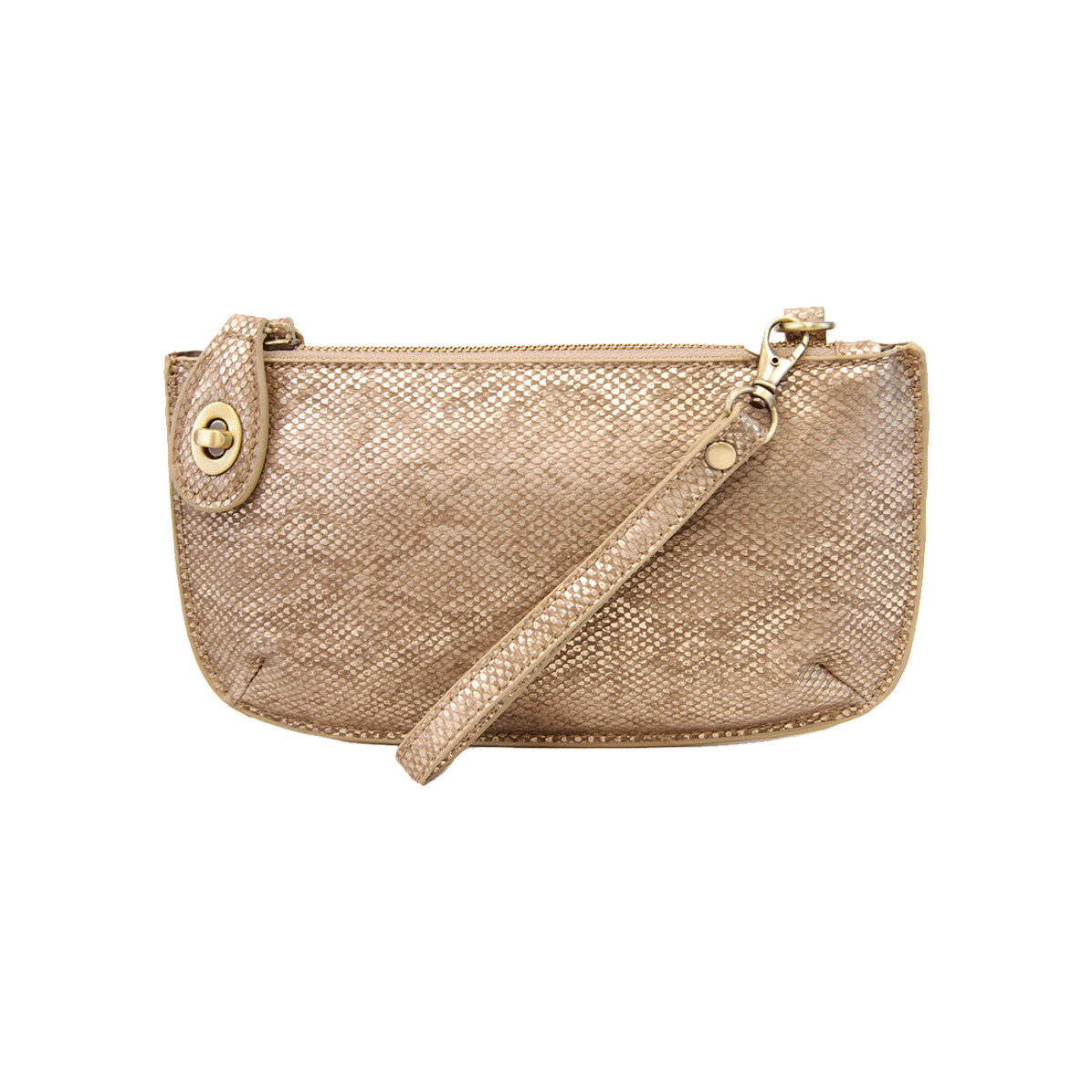 Joy Susan Joy Susan Crossbody Wristlet Clutch Light Copper Python