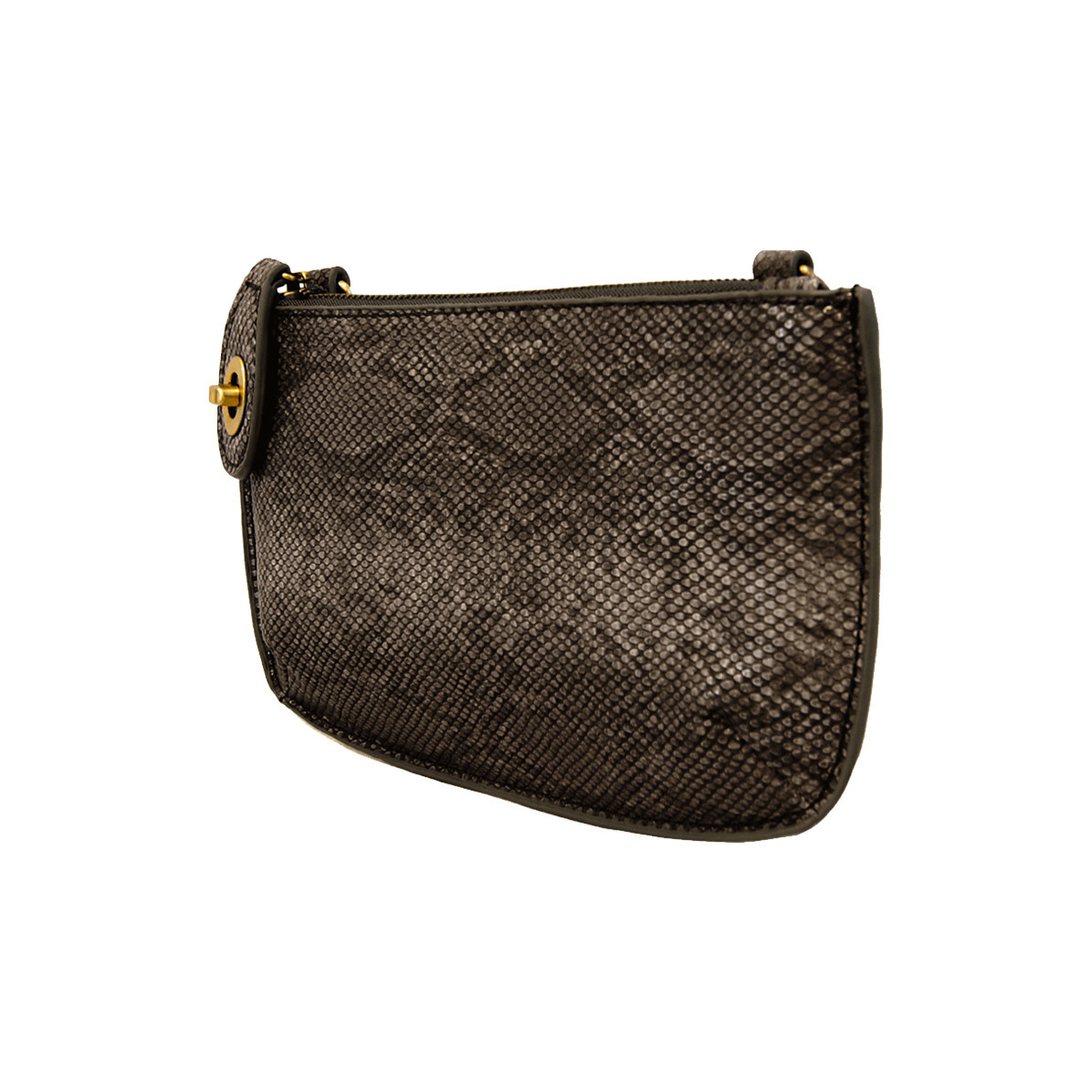 Joy Susan Joy Susan Crossbody Wristlet Clutch Black Python