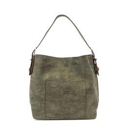 Joy Susan Lux Hobo Handbag Olive