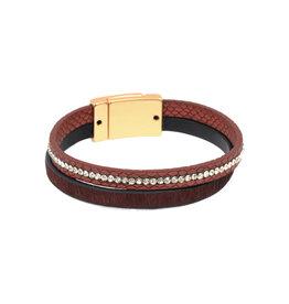 Joy Susan Leather & Pony Burgundy Bracelet
