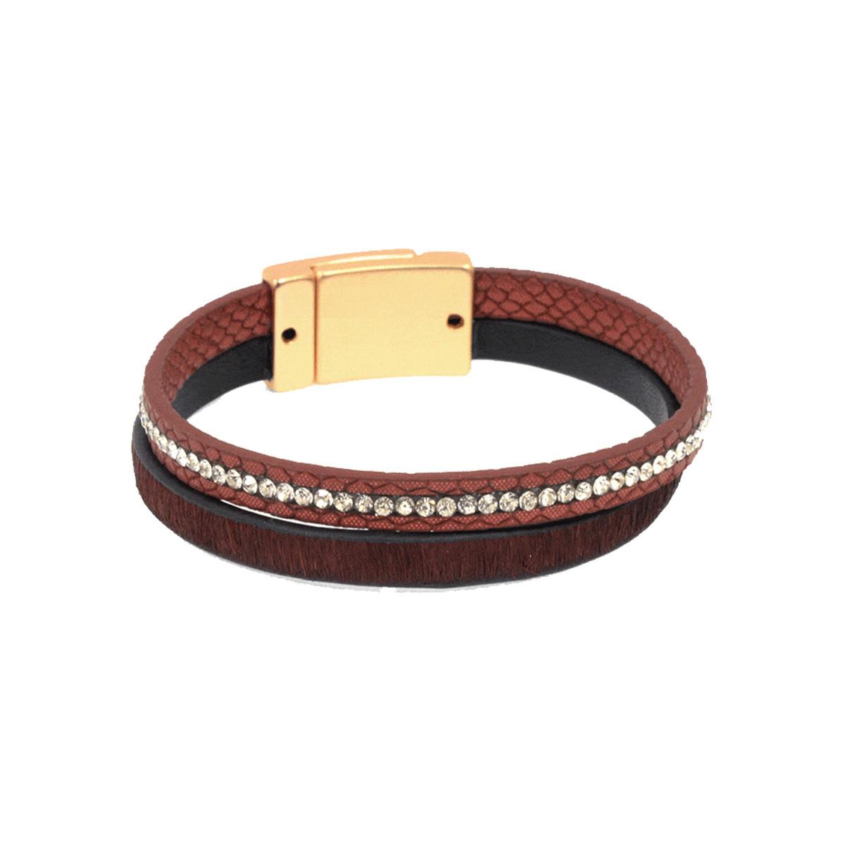 Joy Susan Joy Susan Leather & Pony Burgundy Bracelet