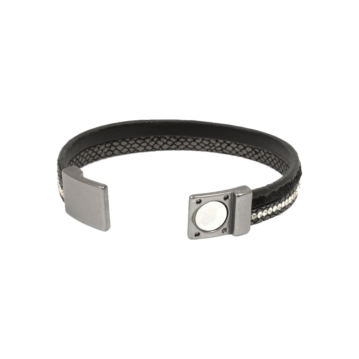 Joy Susan Joy Susan Leather & Pony Black Bracelet