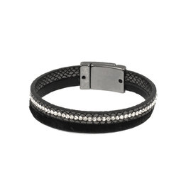 Joy Susan Leather & Pony Black Bracelet