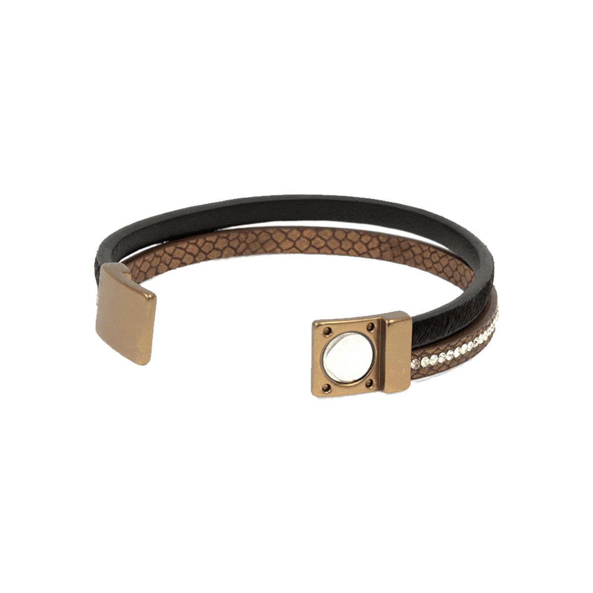 Joy Susan Joy Susan Leather & Pony Brown Bracelet