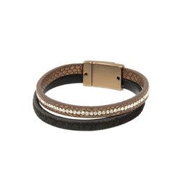 Joy Susan Leather & Pony Brown Bracelet