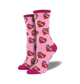 Socksmith Women's Cotton Blend Socks Saved You Some Pink