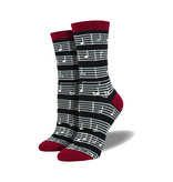 Socksmith Socksmith Women's Bamboo Socks Sheet Music Black