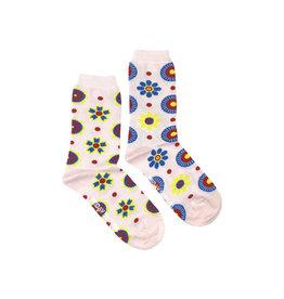 Friday Sock Co. Women's Scand. Flowers Crew W 5 - 10 (M - 4 - 8)