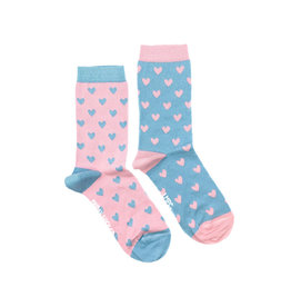 Friday Sock Co. Women's Little May Papery Hearts Crew W 5 - 10 (M - 4 - 8)