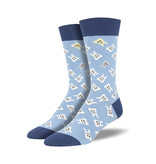 Socksmith Socksmith Men's Cotton Crew Socks Happy Teeth