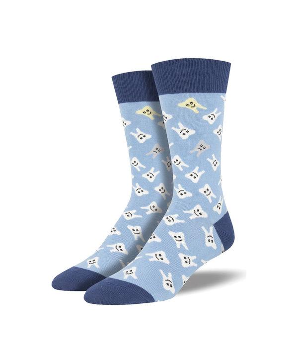 Socksmith Men's Cotton Crew Socks Happy Teeth