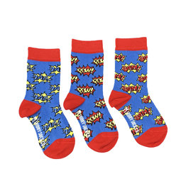 Friday Sock Co. Kids Zap Pow Bam Crew