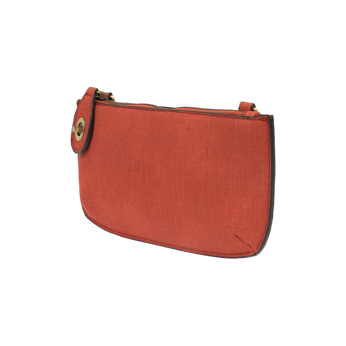 Joy Susan Joy Susan Faux Linen Crossbody Wristlet Clutch Red