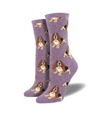 Socksmith Socksmith Women's Cotton Nothing But a Hound Dog Lavender W 5 - 10.5