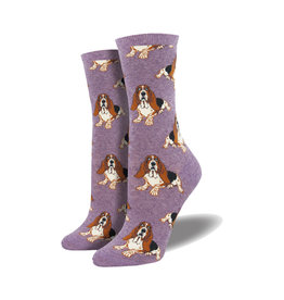 Socksmith Women's Cotton Nothing But a Hound Dog Lavender W 5 - 10.5