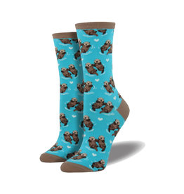 Socksmith Women's Cotton Significant Otter Bright Blue W 5 - 10.5