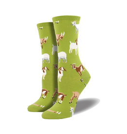 Socksmith Women's Cotton Blend Silly Billy Fern W 5 - 10.5