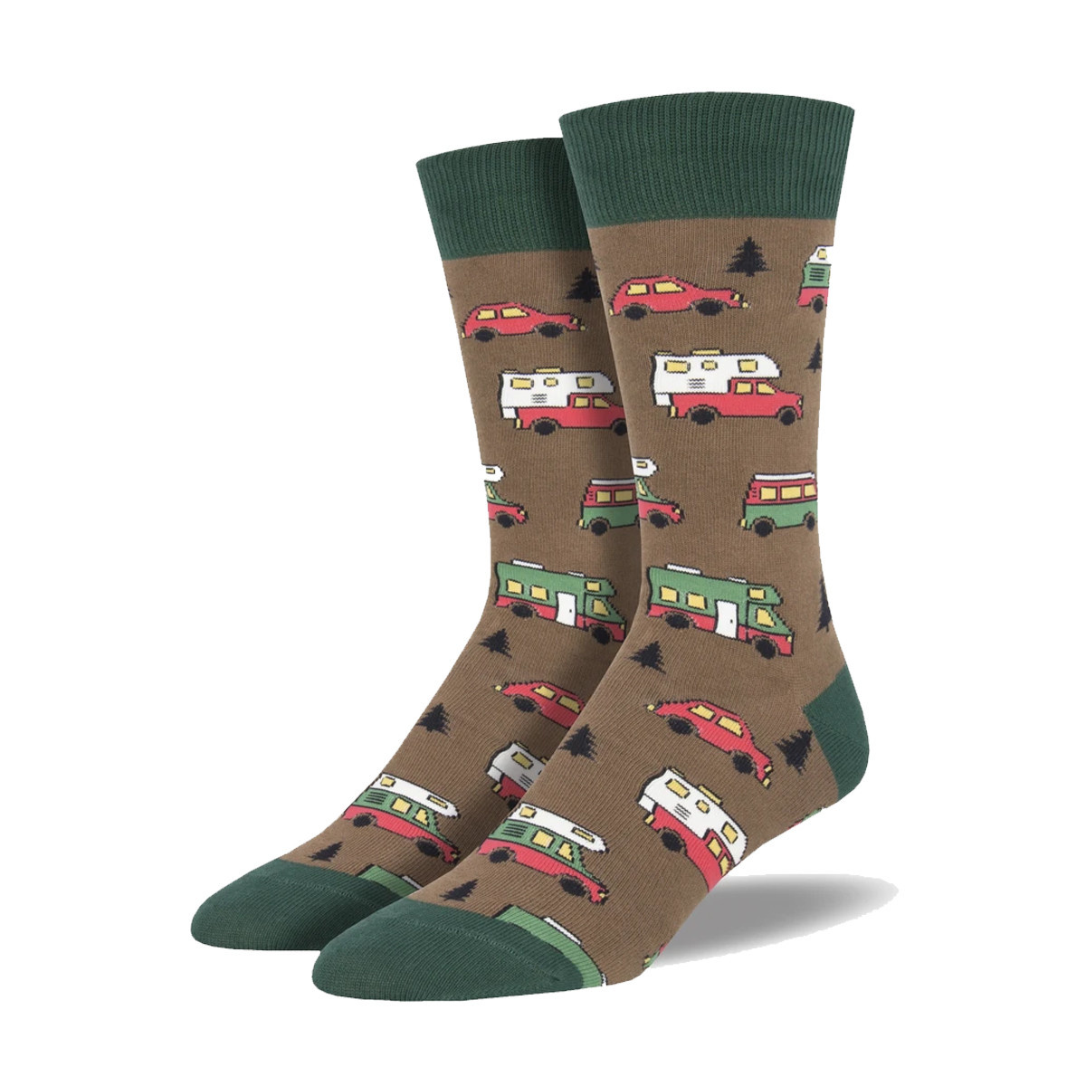 Socksmith Socksmith Men's Are We There Yet? Brown M 7 - 12.5