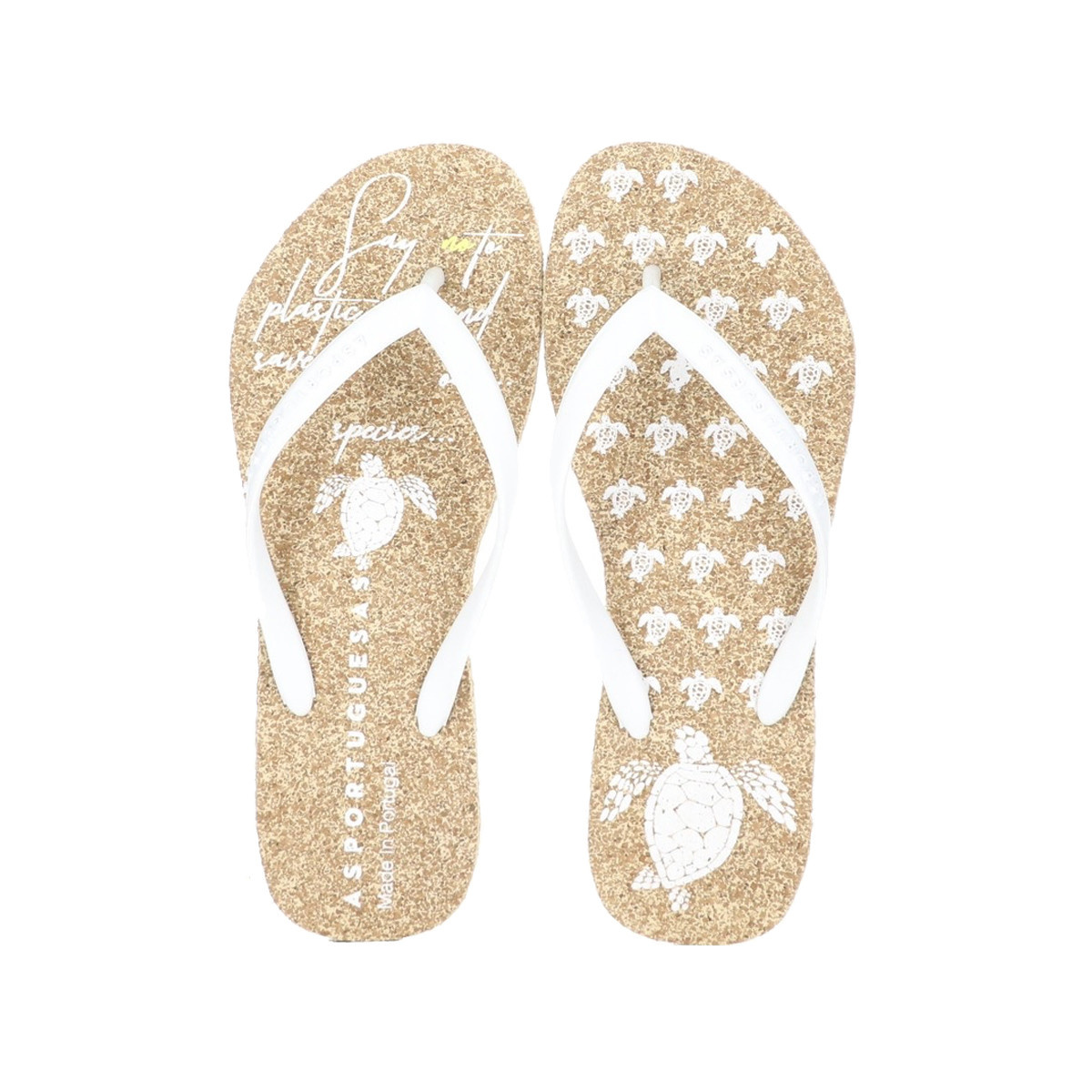Asportuguesas Asportuegusas Flip Flop Natural / White