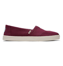 TOMS Women's Alpargata Boardwalk Raisin Canvas