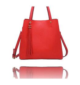 La Volta Medium Shoulder Bag Pat Red