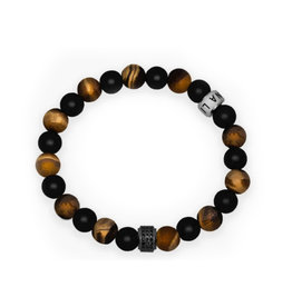 Lia Lubiana Men's Tiger's Eye Onyx Bracelet