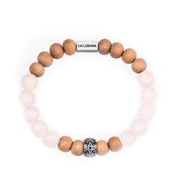 Lia Lubiana Rose Quartz Sandalwood Bracelet